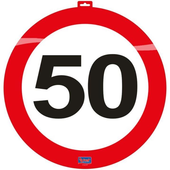 66661890b Dekorace dopravní značka 50, 47cm | Dekorace