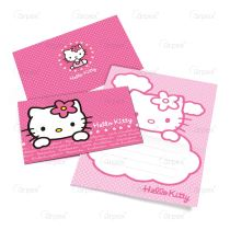 POZVÁNKY - HELLO KITTY  6ks - Hello Kitty licence