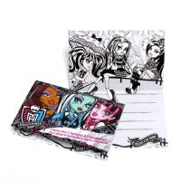 POZVÁNKY - MONSTER HIGH 6ks - Monster high licence