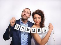 BANNER MR & MRS  - 77cm - Girlandy
