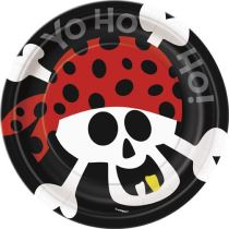 TALÍŘE 8ks -  PIRATE FUN -17,5cm - Párty program
